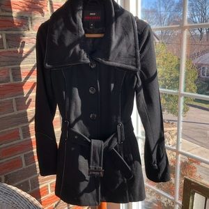 Miss Sixty Wool Blend Lined Belted PeaCoat